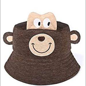 Toddler monkey bucket sun hat